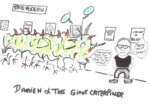 damien and the giant caterpillar internet